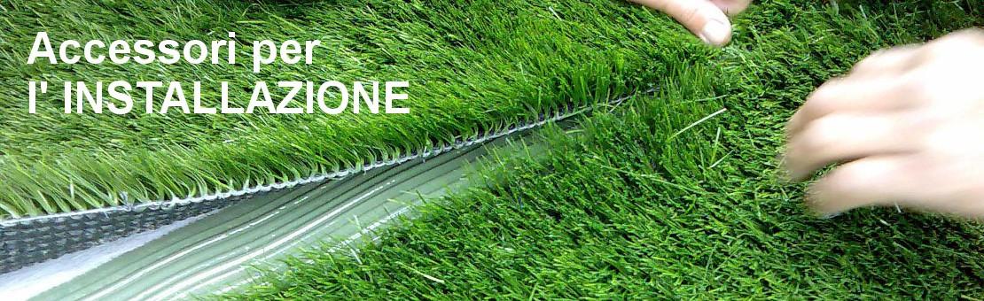 installazione erba sintetica